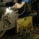 Mechanic repairing train at the depot. - PhotoDune Item for Sale