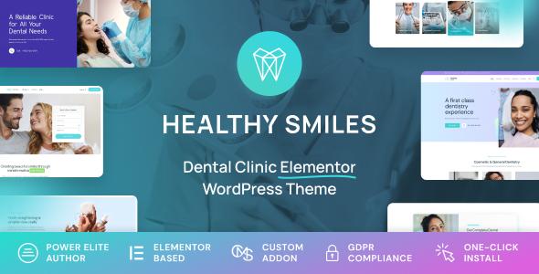 Healthy Smiles - Dental WordPress Theme