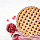 Classic Raspberry Pie on White Background. - PhotoDune Item for Sale