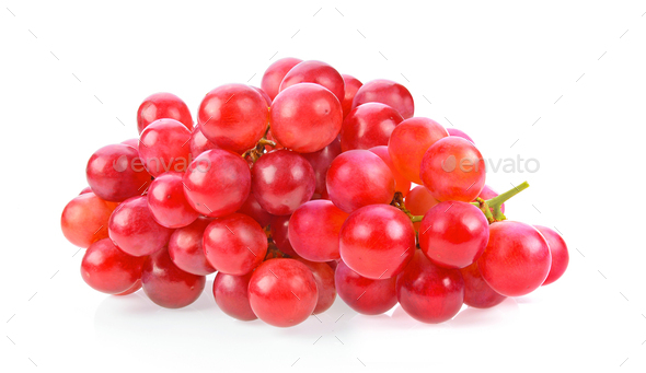 red grape isolated on white - Stock Photo - Images