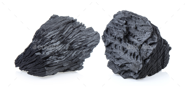 charcoal on white background - Stock Photo - Images