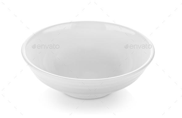 bowl isolated on white - Stock Photo - Images