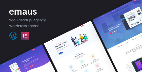 Extraordinary Emaus   SaaS App and Startup Elementor WordPress Theme