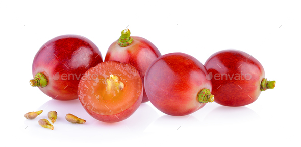 red grape on white - Stock Photo - Images