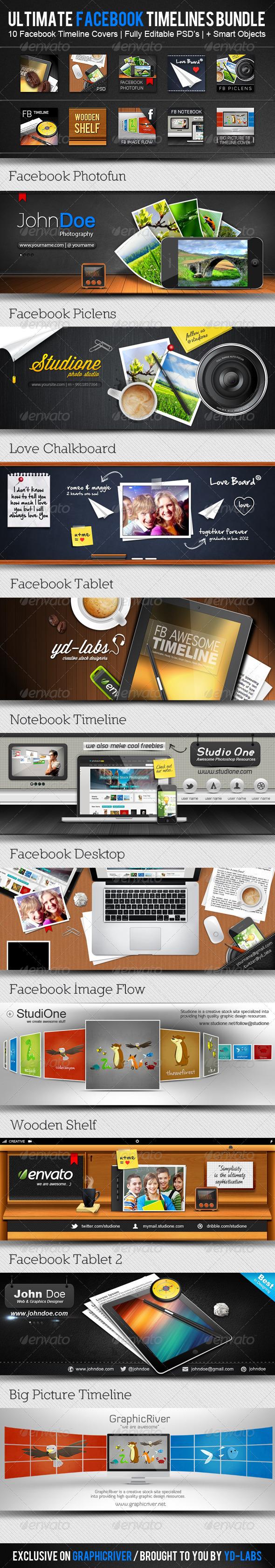 Facebook Timelines Bundle V2 - Facebook Timeline Covers Social Media
