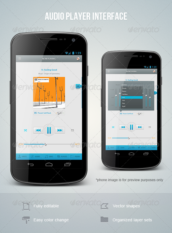 Audio Player Interface - User Interfaces Web Elements