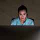 Asian businesswoman working hard late with her technology laptop - PhotoDune Item for Sale
