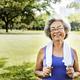 Senior Woman Exercise Park Outdoors Concept - PhotoDune Item for Sale