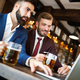 Handsome two businessmen have a meeting in a restaurant - PhotoDune Item for Sale