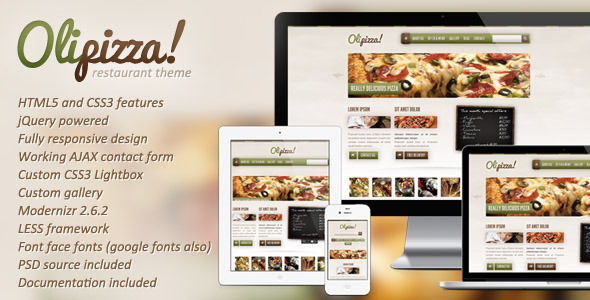 Olipizza – Really tasty HTML5 template