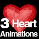 3 Heart Animations 4 K - VideoHive Item for Sale