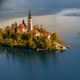 Lake Bled on autumn morning - PhotoDune Item for Sale