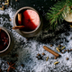 Hot mulled wine with spices and Christmas decorations - PhotoDune Item for Sale