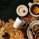 Hot mulled wine with spices and autumn leaves - PhotoDune Item for Sale