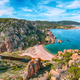 Captivating view of Li Cossi beach on Costa Paradiso resort. - PhotoDune Item for Sale