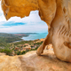 Fabulous view on Palau  from popular travel destination Bear Rock (Roccia dell'Orso). - PhotoDune Item for Sale