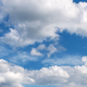 Beautiful blue sky with clouds at sunny bright day in summer - PhotoDune Item for Sale