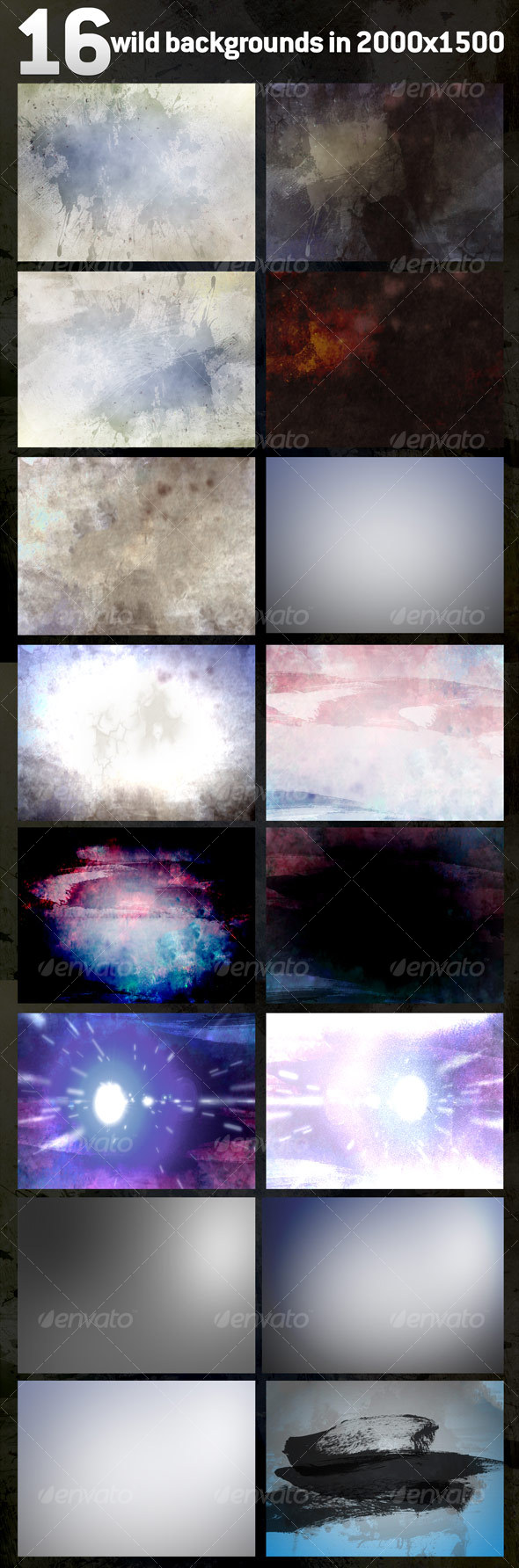 16 Wild Textures / Backgrounds - Miscellaneous Textures