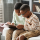 Boys Using Tablet at Home - PhotoDune Item for Sale