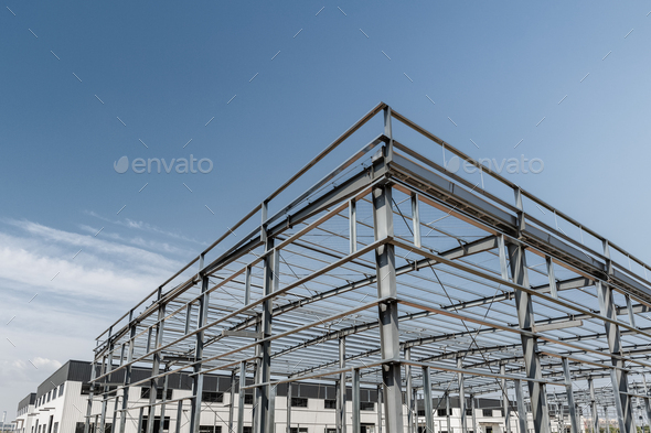 steel frame mill plant - Stock Photo - Images