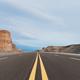 highway on wind erosion zone at dusk - PhotoDune Item for Sale