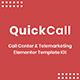 Quick Call - Call Center Elementor Template Kit