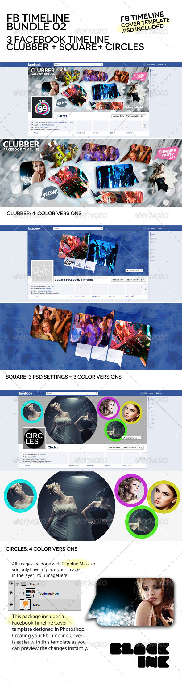 Facebook Timeline Bundle 02 - Facebook Timeline Covers Social Media