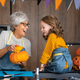 Happy family preparing for Halloween. - PhotoDune Item for Sale