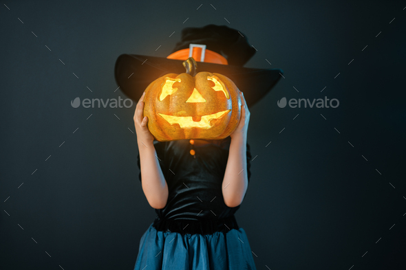 child on Halloween - Stock Photo - Images