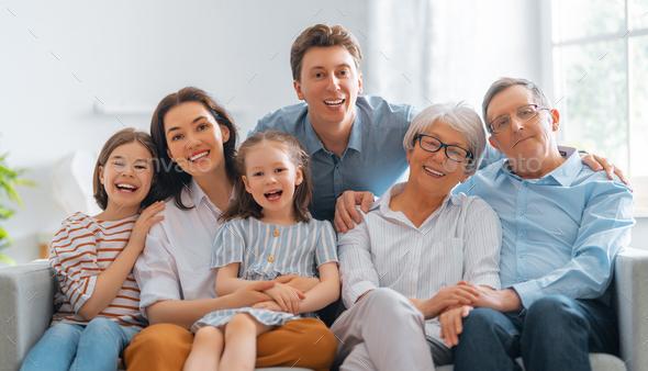 Happy loving family - Stock Photo - Images