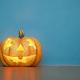 Pumpkin on blue background - PhotoDune Item for Sale