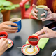 Group of young friends enjoying a coffee break together - PhotoDune Item for Sale