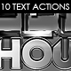 Steel Warehouse - Text Actions. - GraphicRiver Item for Sale