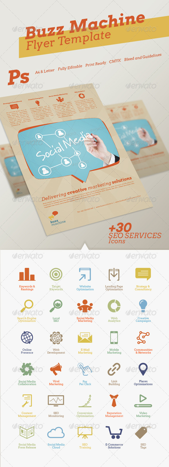 Buzz Machine Flyer Template - Corporate Flyers