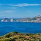 Aegean sea near Milos island with speeding speed boat catamaran ferry vessel in Greece - PhotoDune Item for Sale
