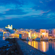 Picturesque Naousa town on Paros island, Greece in the night - PhotoDune Item for Sale