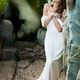 beautiful sensual bride in white dress posing for wedding photo shooting - PhotoDune Item for Sale