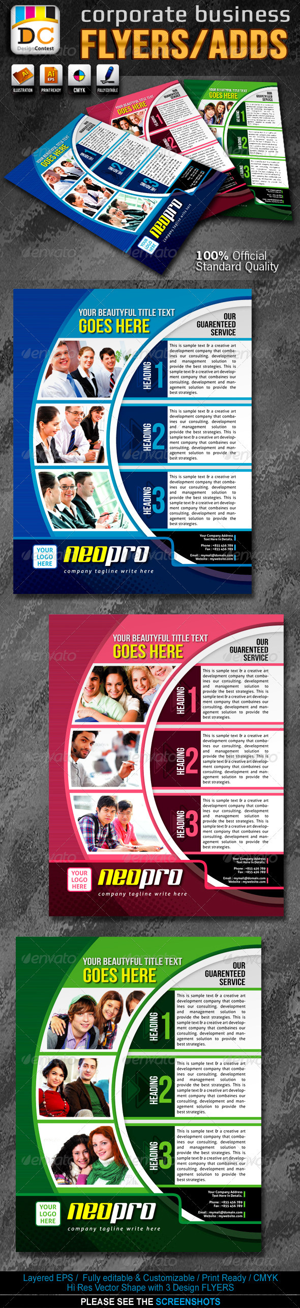 Neo Pro Corporate Business Flyers/Adds  - Corporate Flyers
