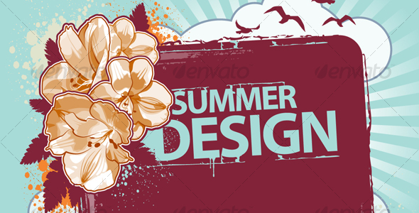 Fresh summer design - Seasons/Holidays Conceptual