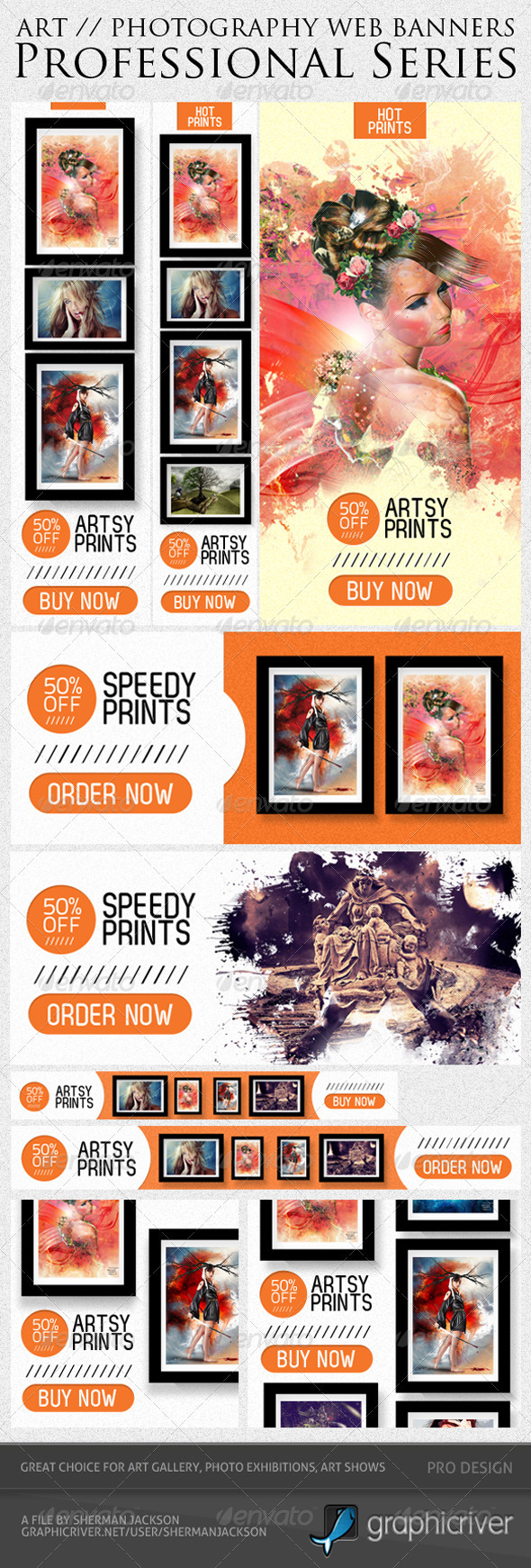 Art & Photography Web Banner Templates - Banners & Ads Web Elements