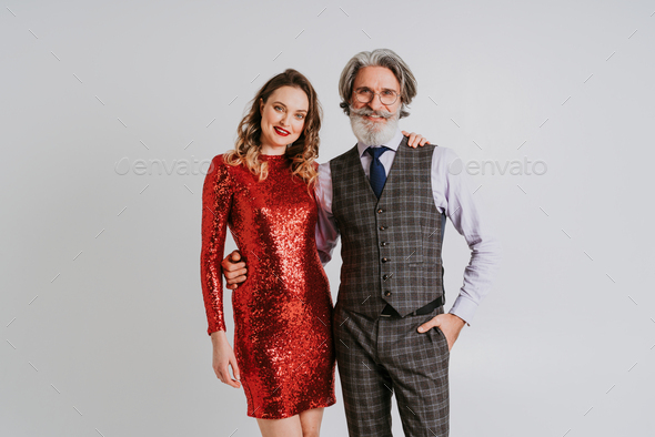 Couple in love celebrating valentines day - Stock Photo - Images