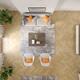 Minimalist Interior of modern living room top view 3D rendering - PhotoDune Item for Sale
