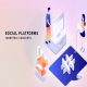 Social platforms - Isometric Concept - VideoHive Item for Sale