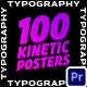 100 Kinetic Typography Posters | Premiere Pro - VideoHive Item for Sale