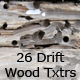 An Assortment of 26 Drift Wood Textures - GraphicRiver Item for Sale