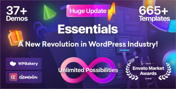 Essentials | Multipurpose WordPress Theme Nulled