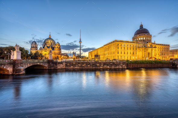 The City Palace, the Cathedral and the TV Tower - Stock Photo - Images