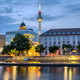 The river Spree in downtown Berlin with the famous TV Tower - PhotoDune Item for Sale