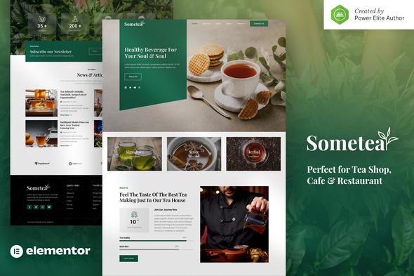 Sometea – Tea House Cafe & Restaurant Elementor Template Kit