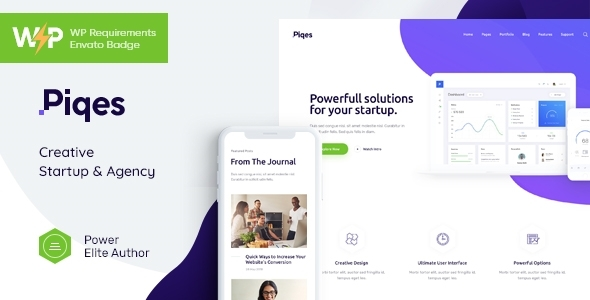 Wondrous Piqes | Creative Startup & Agency WordPress Theme
